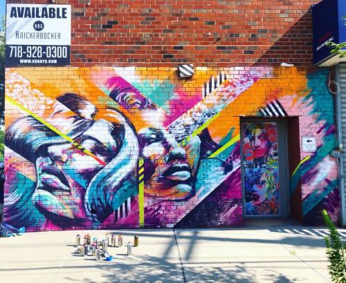 Street Murals by Bianca Romero seen at Lombardy Walls, Brooklyn - Mural