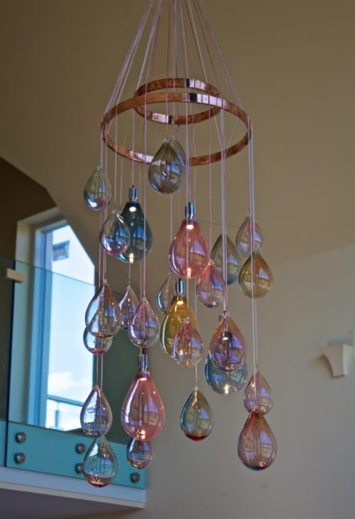 Chandeliers by Elin Isaksson Glass seen at Private Residence - Bespoke Chandelier