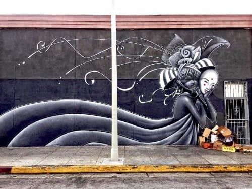 Murals by Hans Haveron at The Bun Shop, Los Angeles - Mural