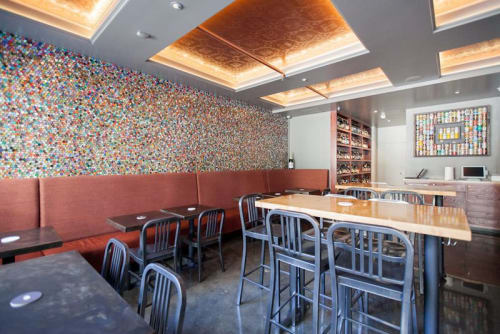 Chairs by Gi Paoletti Design Lab seen at The Beer Hall, San Francisco - Banquettes