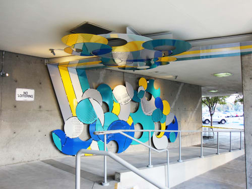 Sculptures by Elena Manferdini seen at Hubert Humphrey Comprehensive Health Center, Los Angeles - Nembi