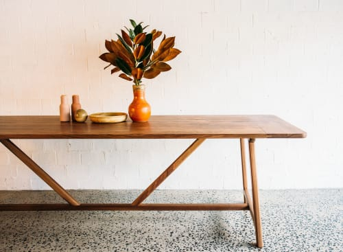 Tables by JD.Lee Furniture seen at The Plant Room, Manly - Tate Dining Table