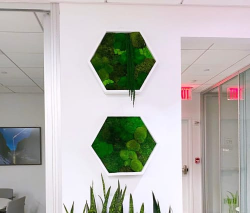 Art & Wall Decor by MossBoss NYC seen at Saks Fifth Avenue, New York - Maple Hexagons