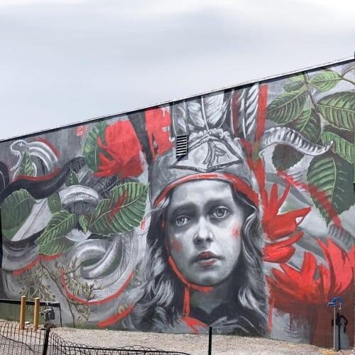 Street Murals by Lula Goce seen at Pot Town Organics, Strasburg - Strasburg Mural