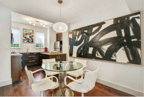 Paintings by Peter Triantos seen at Private Residence, Miami - Black & White