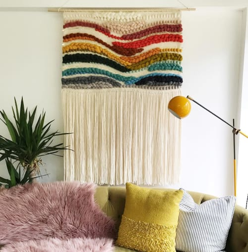 Macrame Wall Hanging by Erin Barrett  (Sunwoven) at Private Residence, Charleston, SC, Charleston - Rainbow Weaving