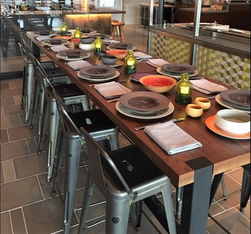 Chairs by Xavier Pauchard seen at Andaz Scottsdale Resort & Spa, Scottsdale - Metal Counter Stool