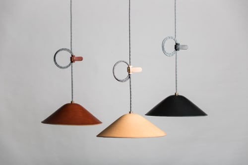 Pendants by Barnaby Lane seen at Private Residence, Los Angeles - IE Francis Loop Pendant- Natural