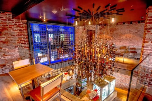 Pendants by Anna Wolfson Studios seen at ENO Wine Bar, Washington, DC, Washington - Wine Barrel Sphere Pendant