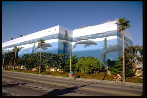 Street Murals by Wyland at 1100 North Harbor Dr., Redondo Beach, CA, Redondo Beach - Whaling Wall Number 31