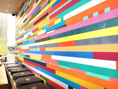 Murals by Leah Rosenberg seen at Cafe Entenwerder1, Hamburg - Color Wall