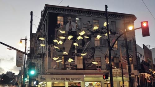Sculptures by Dorka Keehn seen at New Sun Hong Kong Restaurant, San Francisco - Language of the Birds