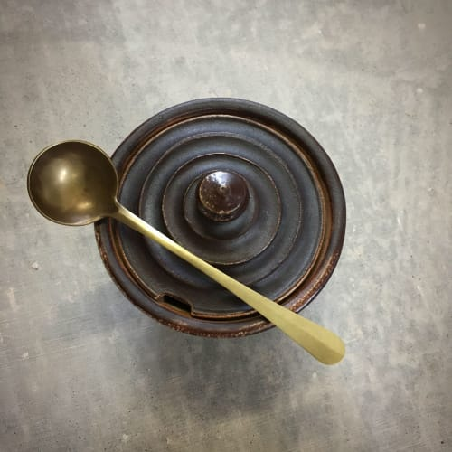 Tableware by Erica Moody | Fine Metal Work seen at Penland School of Crafts, Bakersville - Brass Sugar Spoon