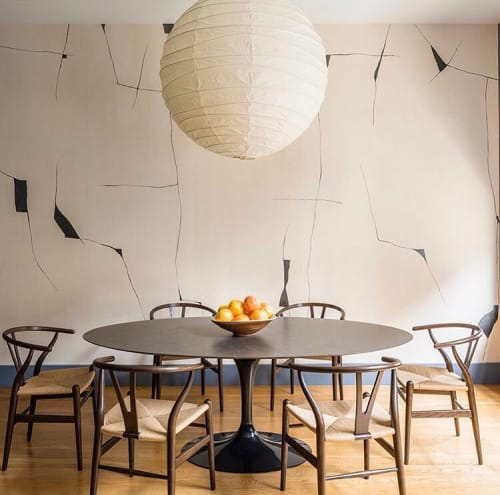 "Wallpaper by Porter Teleo at Private Residence, New York - ""Kintsugi"" Wallcovering"