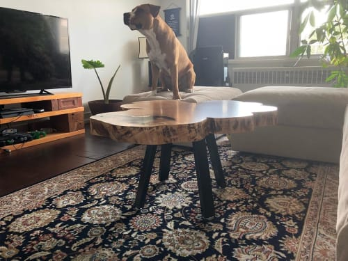 """Tables by Caveman Build & Supply Co. seen at Private Residence, Toronto - """"Cookie Cut"""" Coffee Table"""