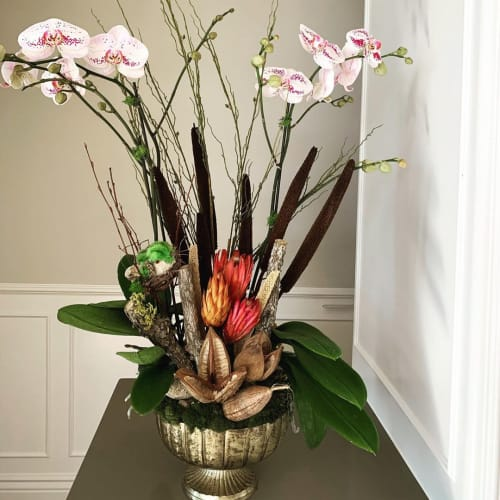 Floral Arrangements by Fleurina Designs seen at Private Residence, Los Gatos - Flower Arrangement