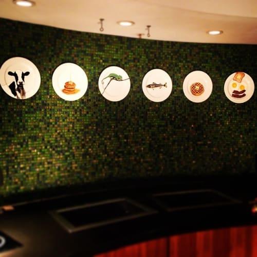 Ceramic Plates by Jacqueline Poirier seen at The Ritz-Carlton, South Beach, Miami Beach - Plate Art