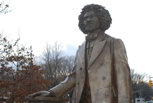 Public Sculptures by Gabriel Koren seen at Frederick Douglass Circle, New York, New York - Frederick Douglass