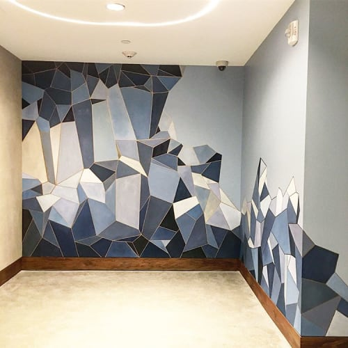 Murals by Aquarela Sabol seen at The Jeremy West Hollywood, West Hollywood - Geometric Mural