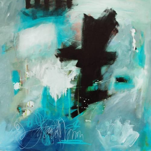 """Paintings by Abby Creek Studios - Paintings by Linda O'Neill seen at Super Mini Walnut Cafe, Lafayette - """"Certain Dark Things are to be Loved"""""""