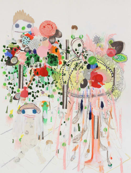 Paintings by Simone Shubuck seen at Little Park, New York - Super Future Shoob