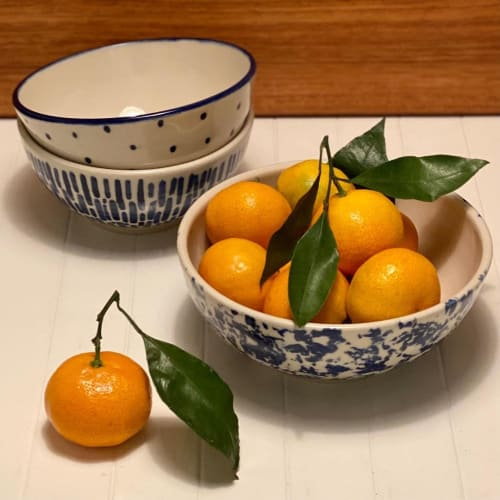 Tableware by Linda Mercer seen at Private Residence, Victoria - Cobalt Bowls