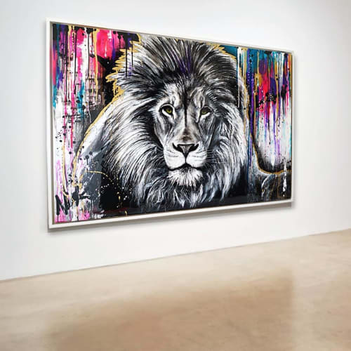 Paintings by Nickhartist seen at Private Residence, Dallas - Lion