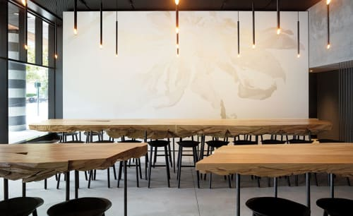Tables by Northwood Design Partners seen at In Situ, San Francisco - Cottonwood Shard Tables