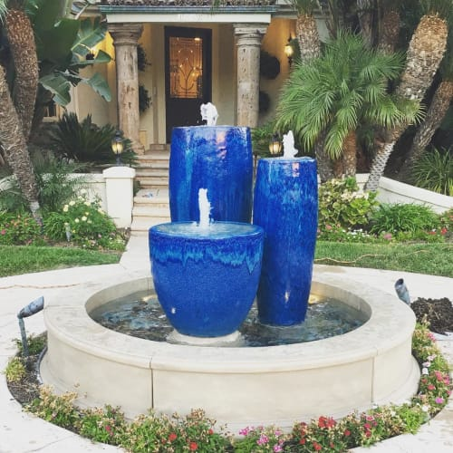 Vases & Vessels by Giannini Garden Ornaments seen at Thousand Oaks, California, Thousand Oaks - Ceramic Planter Fountain