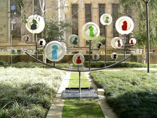"Sculptures by Zach Taljaard seen at Anglo American, Johannesburg - ""Bubble people"""