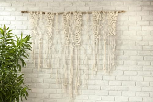 Macrame Wall Hanging by Free Creatures seen at Cafe Gratitude San Diego, San Diego - Custom Macramé