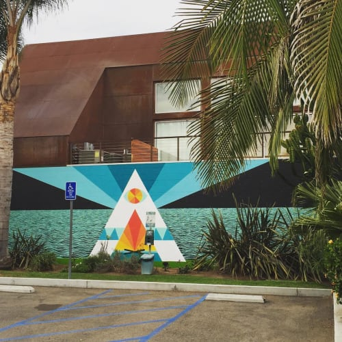 Street Murals by Mark W Jacques seen at Beachwood Court, Carlsbad - Triangular Mural