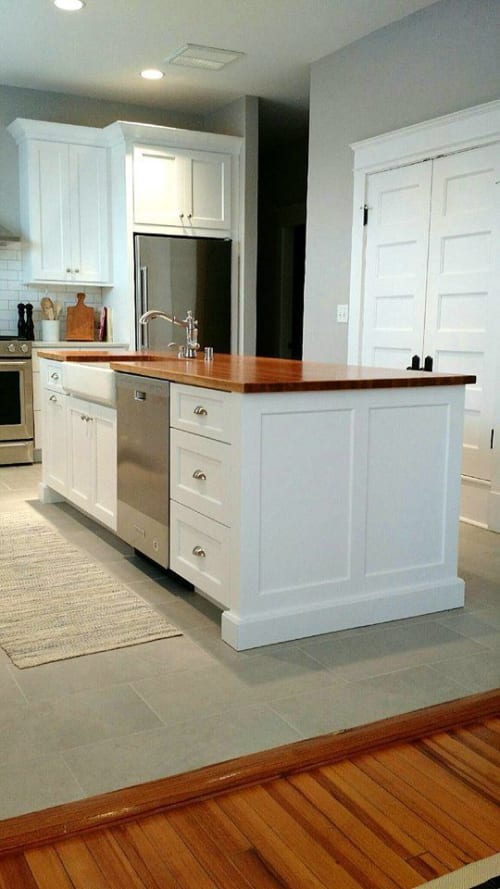 Furniture by Justin Vancil Woodworking seen at Private Residence - White Oak Counter Top