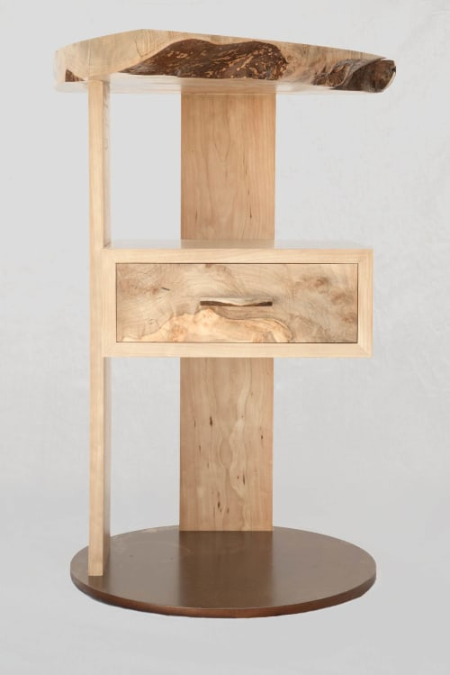 Tables by Michael O'Connell Furniture seen at Jacob K. Javits Convention Center, NYC, New York - El Monte Nightstand