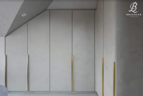Furniture by Brandler London seen at Private Residence, London - Fabricated Concrete Wardrobes