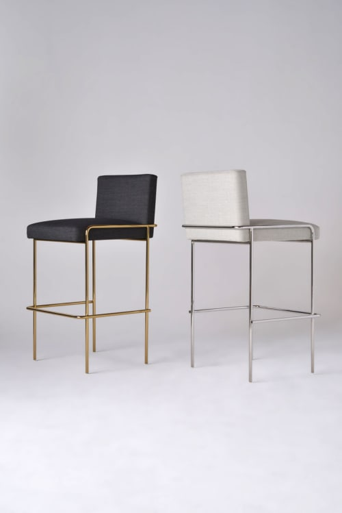 Chairs by Phase Design by Reza Feiz seen at Indian Accent, New York - Trolley Bar Stool
