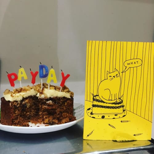 Art & Wall Decor by Maya Doyle seen at Private Residence, Brighton - Illustrated Birthday Card