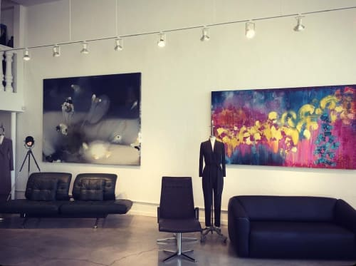 Paintings by Bryan Ricci seen at de Sede AG, Klingnau - Summer Break