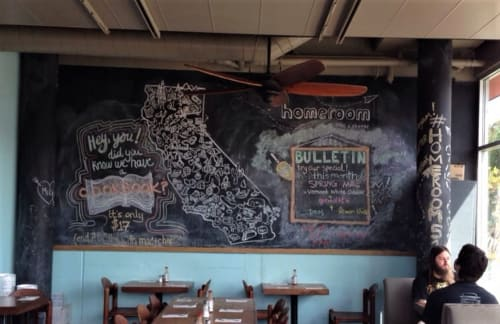 Paintings by Melissa Garden seen at Homeroom, Oakland - Chalkboard Art