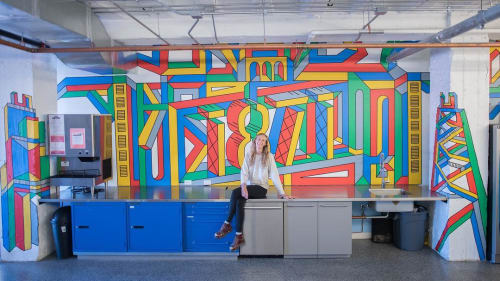 Murals by Kate Lynn Lewis seen at The Mart, Chicago - Mural