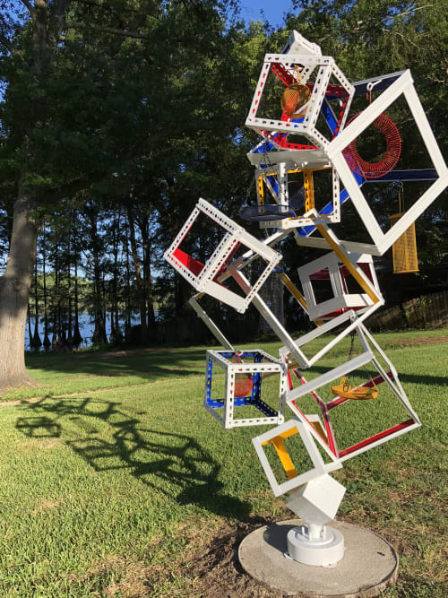 Sculptures by Tamara Robertson at Private Residence, Oil City - Multiple Metal Sculptures