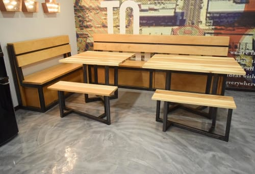 Tables by Graeber Design seen at Insight Creative Group, Oklahoma City - Custom Furniture