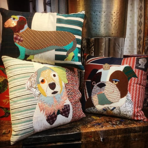 Pillows by Carola Van Dyke Studio seen at Anthropologie, London - Cushions