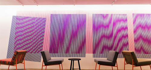Paintings by Johnny Abrahams at Facebook, New York, Astor Place, New York - Moire Painting
