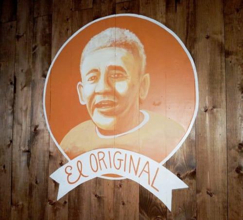 Murals by L Star Murals seen at Tamale Man, Los Angeles - Tamale Man El Original