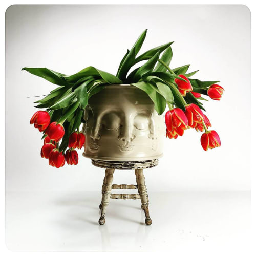 Vases & Vessels by Hollow Work by Kate Hardy at Private Residence - Pot Head Vase