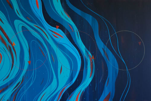"Murals by Erik Otto seen at Grand Hyatt San Francisco, San Francisco - ""Where Dreams Are Born"""
