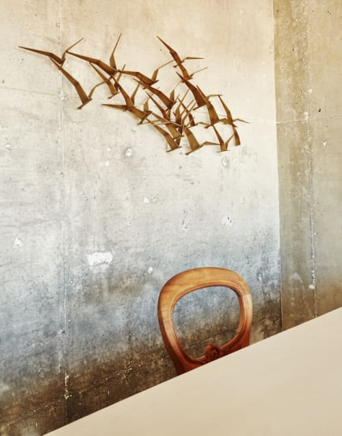 Sculptures by Curtis Jere seen at Bestia, Los Angeles - Wall Mounted Sculptures