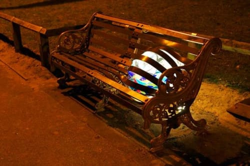 Public Sculptures by Andy Kirkby seen at Boscombe Pier, Bournemouth - Bench Sculpture