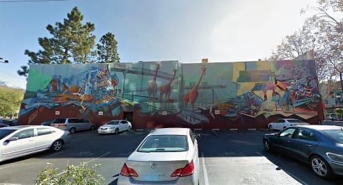 Murals by Jeffrey Hemming seen at Lido's Nightclub, San Jose - Phylum of the Free